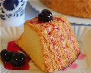 Angel Food Cake con Amarene Sciroppate